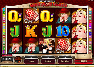 Rhyming Reels: Queen of Hearts slot presents