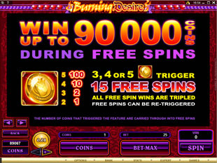 Burning Desire Slot Free Spins