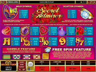 Secret Admirer Slots Payout