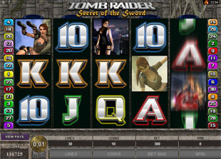 Tomb Raider Secret of the Sword Slot Machine