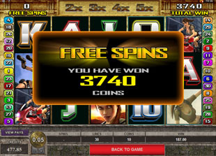 Tomb Raider Secret of the Sword Slot Free Spins