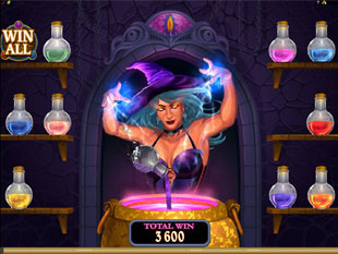 Lucky Witch Slot Bonus Game